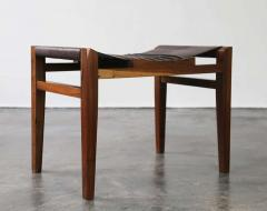 Costantini Design Luzio Slung Leather Stool in Argentine Rosewood with Leather Cording - 1580422