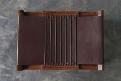 Costantini Design Luzio Slung Leather Stool in Argentine Rosewood with Leather Cording - 1580427