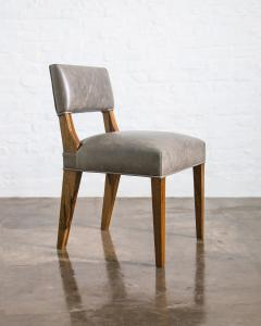 Costantini Design Modern Dining Chair in Argentine Exotic Wood and Leather from Costantini Bruno - 1977851