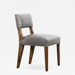Costantini Design Modern Dining Chair in Argentine Exotic Wood and Leather from Costantini Bruno - 1982091