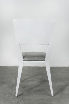 Costantini Design Modern Hand Welded Metal Frame and Leather Dining Chair Rodelio Bianco - 1905590
