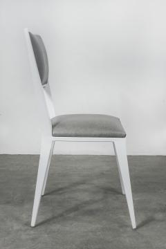 Costantini Design Modern Hand Welded Metal Frame and Leather Dining Chair Rodelio Bianco - 1905591