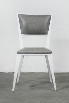 Costantini Design Modern Hand Welded Metal Frame and Leather Dining Chair Rodelio Bianco - 1905592