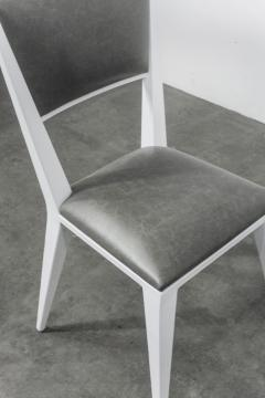Costantini Design Modern Hand Welded Metal Frame and Leather Dining Chair Rodelio Bianco - 1905594