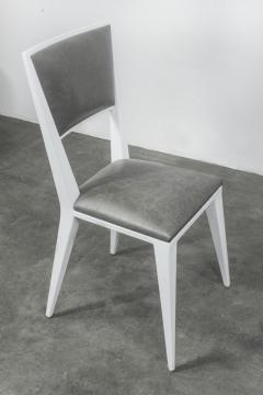 Costantini Design Modern Hand Welded Metal Frame and Leather Dining Chair Rodelio Bianco - 1905595
