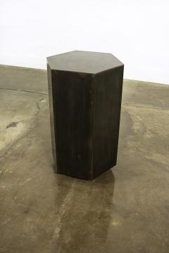 Costantini Design Modern Side Table in Patinated Steel from Costantini Ettore Hex In Stock  - 1897813