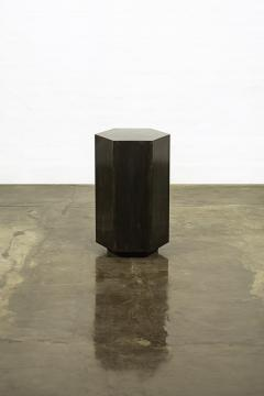 Costantini Design Modern Side Table in Patinated Steel from Costantini Ettore Hex In Stock  - 1897815