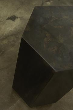 Costantini Design Modern Side Table in Patinated Steel from Costantini Ettore Hex In Stock  - 1897816