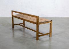 Costantini Design Modern Solid Exotic Wood Outdoor Bench from Costantini Serrano In Stock  - 2139926