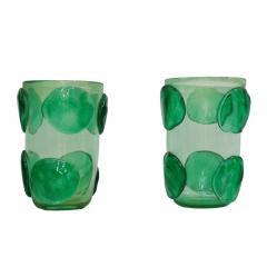 Costantini Design Pair of Mid Century Modern Costantini Murano Glass Italian Vases - 1575696