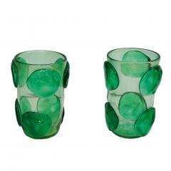 Costantini Design Pair of Mid Century Modern Costantini Murano Glass Italian Vases - 1575697