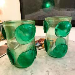 Costantini Design Pair of Mid Century Modern Costantini Murano Glass Italian Vases - 1575699