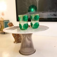 Costantini Design Pair of Mid Century Modern Costantini Murano Glass Italian Vases - 1575701