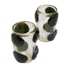 Costantini Design Pair of Mid Century Modern Costantini Murano Glass Italian Vases - 1590762