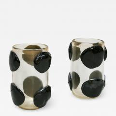 Costantini Design Pair of Mid Century Modern Costantini Murano Glass Italian Vases - 1592366