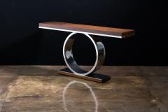 Costantini Design Polished Steel and Wood Console Table from Costantini Donte - 2060695