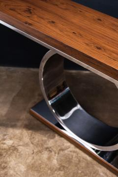 Costantini Design Polished Steel and Wood Console Table from Costantini Donte - 2060746