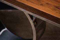 Costantini Design Polished Steel and Wood Console Table from Costantini Donte - 2060751