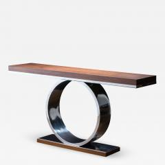 Costantini Design Polished Steel and Wood Console Table from Costantini Donte - 2075733