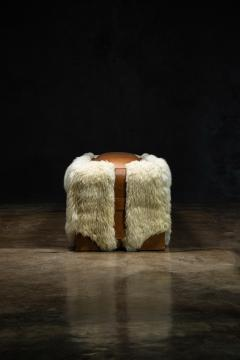 Costantini Design Shearling and Leather Custom Contemporary Bench from Costantini Ovino - 2121261