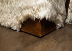 Costantini Design Shearling and Leather Custom Contemporary Bench from Costantini Ovino - 2121264
