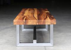 Costantini Design Solid Exotic Wood and Steel Bench or Table from Costantini Donato - 1905362