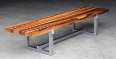 Costantini Design Solid Exotic Wood and Steel Bench or Table from Costantini Donato - 1905364