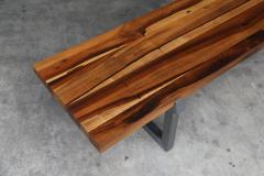 Costantini Design Solid Exotic Wood and Steel Bench or Table from Costantini Donato - 1905365