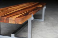 Costantini Design Solid Exotic Wood and Steel Bench or Table from Costantini Donato - 1905366