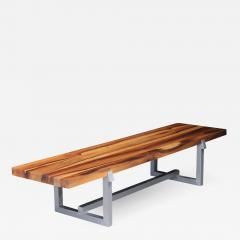 Costantini Design Solid Exotic Wood and Steel Bench or Table from Costantini Donato - 1907910