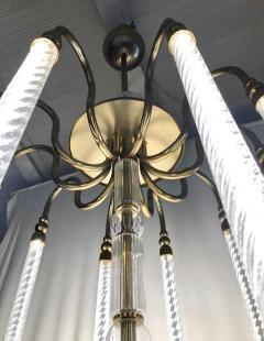 Cosulich Interiors Antiques Contemporary Bespoke Italian Monumental Murano Glass Antique Brass Open Lantern - 2057642