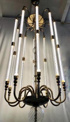 Cosulich Interiors Antiques Contemporary Bespoke Italian Monumental Murano Glass Antique Brass Open Lantern - 2057643
