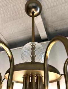 Cosulich Interiors Antiques Contemporary Bespoke Italian Monumental Murano Glass Antique Brass Open Lantern - 2057645