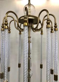 Cosulich Interiors Antiques Contemporary Bespoke Italian Monumental Murano Glass Antique Brass Open Lantern - 2057647