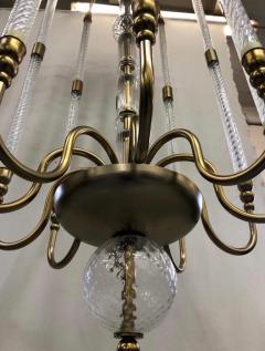 Cosulich Interiors Antiques Contemporary Bespoke Italian Monumental Murano Glass Antique Brass Open Lantern - 2057648