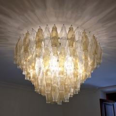 Cosulich Interiors Antiques Contemporary Italian Poliedri Amber and Crystal Clear Murano Glass Chandelier - 695863
