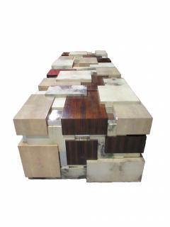 Cravt Original A Monumental Shagreen Ebony de Macassar Parchment and Chrome Center Table - 540904
