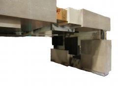 Cravt Original A Monumental Shagreen Ebony de Macassar Parchment and Chrome Center Table - 540905