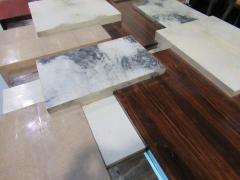 Cravt Original A Monumental Shagreen Ebony de Macassar Parchment and Chrome Center Table - 541141