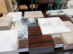 Cravt Original A Monumental Shagreen Ebony de Macassar Parchment and Chrome Center Table - 541145