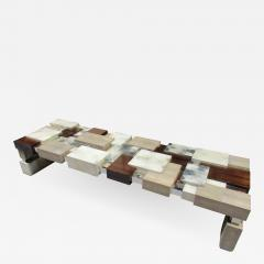 Cravt Original A Monumental Shagreen Ebony de Macassar Parchment and Chrome Center Table - 575315