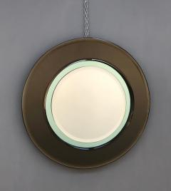 Cristal Art Italian Round Mirror Attributed to Cristal Art - 1161536