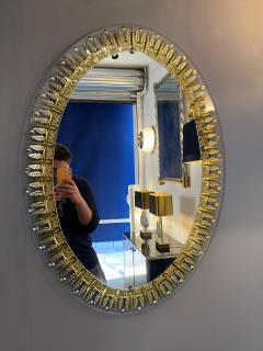 Cristal Art Mirror Gilt Ears of Wheat by Cristal Art Italy 1960s - 1917471