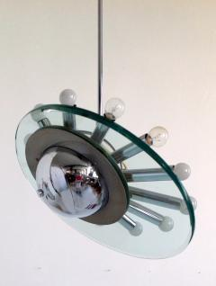 Cristal Arte 1970s Space Age Ceiling Light attributed to Cristal Arte - 113585