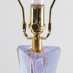 Cristalleries De Sevres Lavender Glass Table Lamp by Christalleries de Sevres of France - 466126