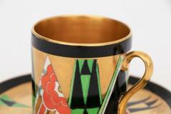Crown Devon Art Deco Orient Coffee Cup Saucer by Crown Devon - 2043596