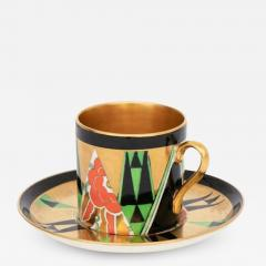 Crown Devon Art Deco Orient Coffee Cup Saucer by Crown Devon - 2044133