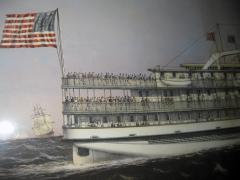 Currier and Ives 19th Century Currier and Ives Colored Lithographed Nautical Print - 738600