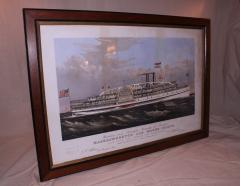 Currier and Ives 19th Century Currier and Ives Colored Lithographed Nautical Print - 738611
