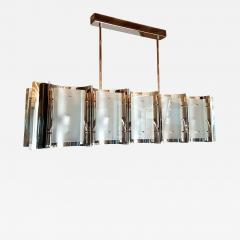 D Lightus Mid Century Modern Style Dlightus Bespoke Nickel and Frosted Glass Chandelier - 736299